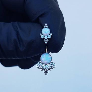 14ga Custom Titanium Navel Jewelry