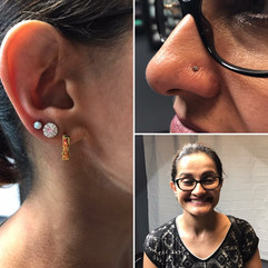 Nostril and Third Lobe Piercings