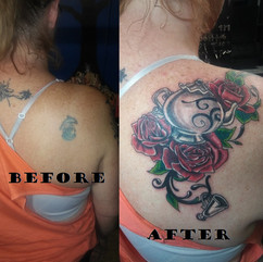 Roses and Teapot Cover-up