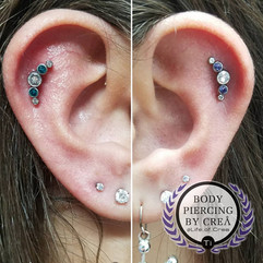 Helix Piercing with Cascade Clusters