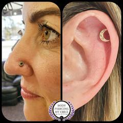 Nostril & Helix Piercing