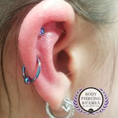 Helix and Upper Lobe Piercings