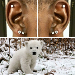 Helix and Double Lobe Piercings