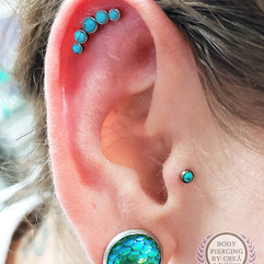 Helix and Tragus Piercings