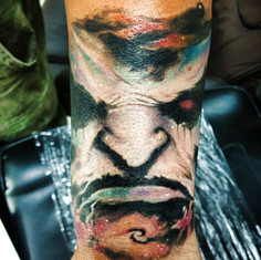 earl tattoo space face