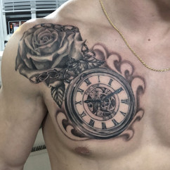 ROSE AND POCKET WATCH