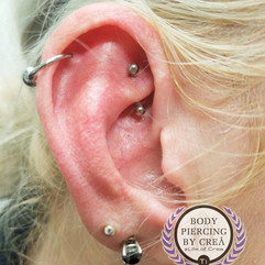 Helix and Rook Piercings