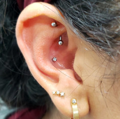 Rook and Conch Piercings