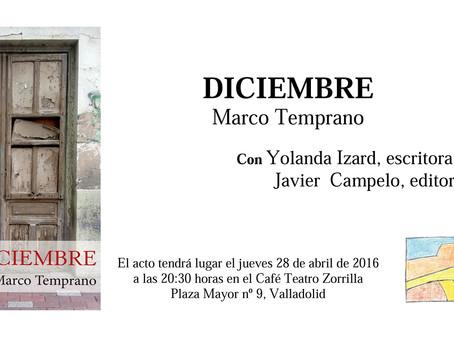 Presentamos 'Diciembre', de Marco Temprano