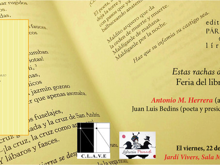 'Estas rachas de marzo' se presenta en la Feria del Libro de Valencia