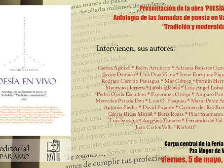 Presentamos 'Poesía en vivo' en la Feria del Libro de Valladolid