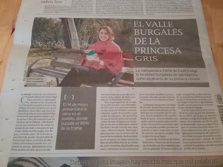 Entrevista a Elena de Castro en el Diario de Burgos