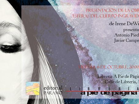 Lanzamiento y presentación del nuevo poemario de Irene DeWitt