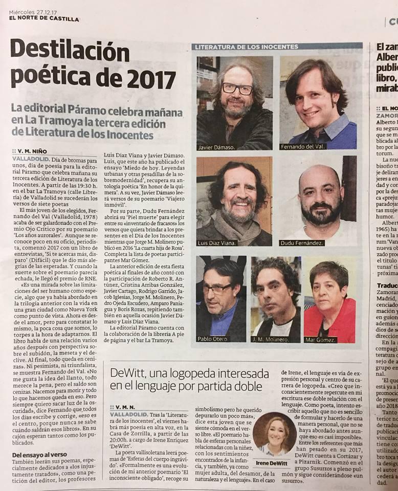 Literatura de los inocentes 2018