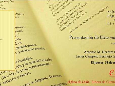 Presentación de 'Estas rachas de marzo' en Madrid