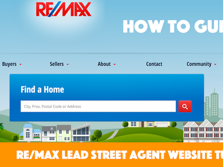 REMAX Agent Website Tutorials