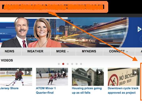 Real Info Box Calgary Market Reports on CTV night news