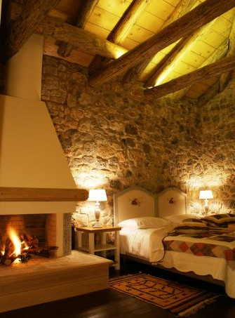 Room with chimney