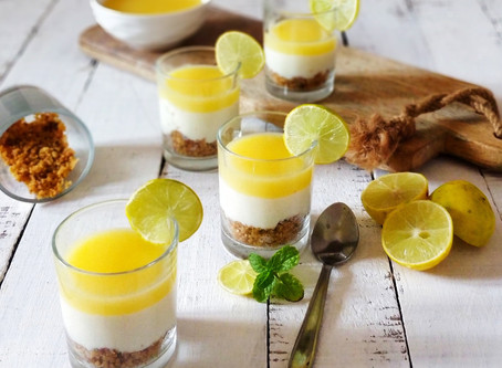 No-Bake Lemon Cheesecake Shots
