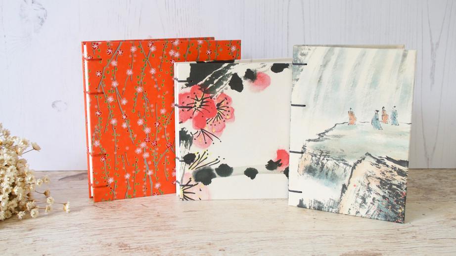 Trio de carnets d'aquarelle