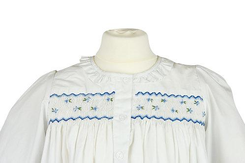 Langarm Nachthemd mit blauen Streublumen