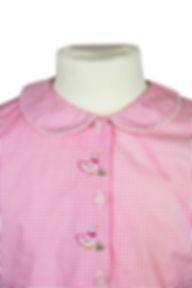 Langarm Pyjama, rosa visy mit Enten Stickerei