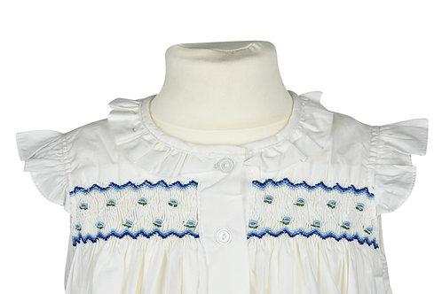Kurzarm Nachthemd mit blauen Butterblumen