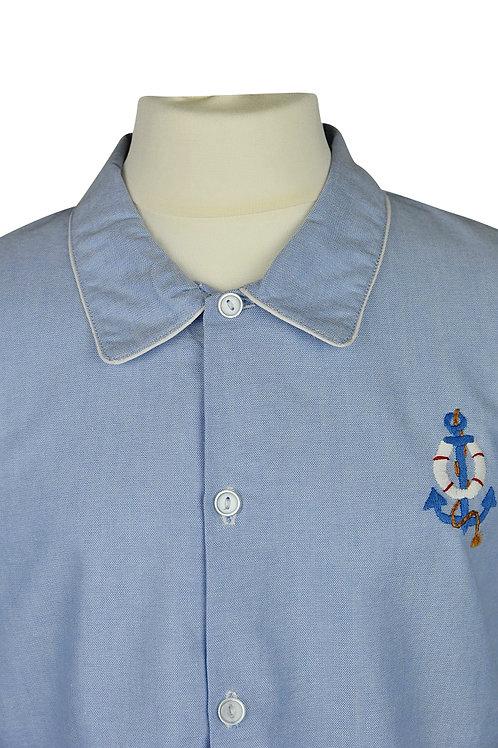 Hellblauer, langarm Pyjama mit Ankermotiv