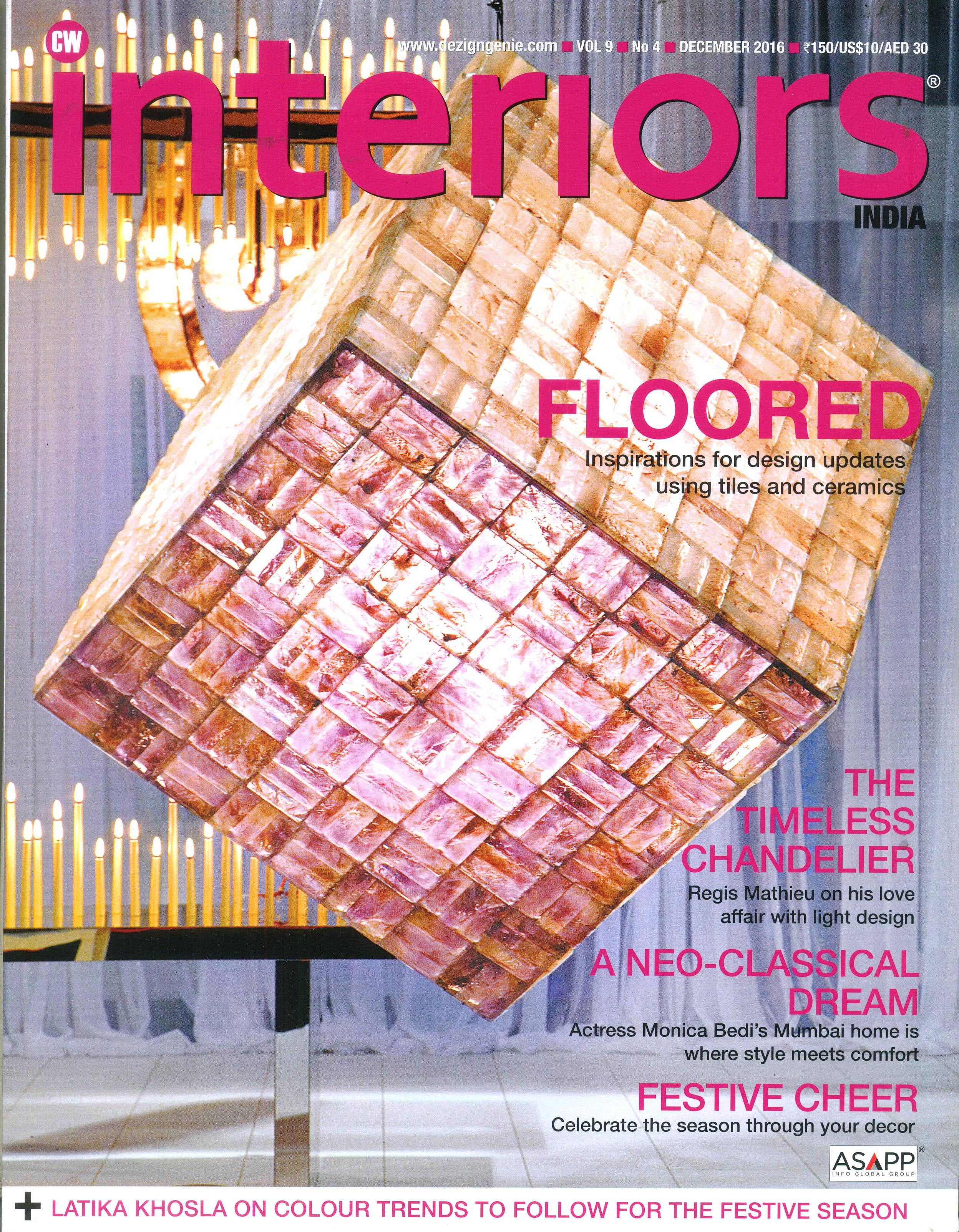 CW Interiors- magazine cover