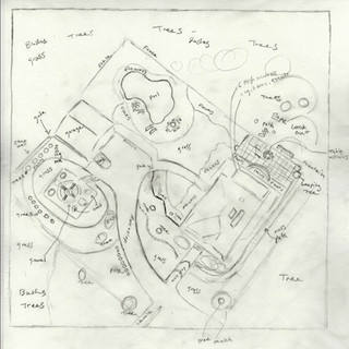 Sally Curcio, Proposal Sketch for Nancy's Garden, Commissioned by Nancy and Bruce Goldstein