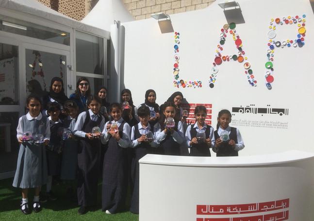 Creating New Worlds project at Art Dubai as part of the Sheikha Manal Little Artists Program