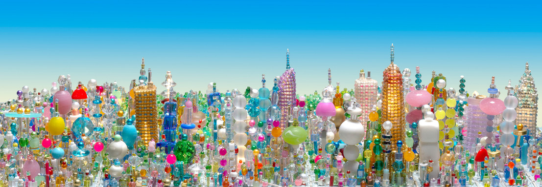 Summer in Central Park (Detail), Bubble Sculpture Commission, Hassenfeld Children's Hospital at NYU Langone