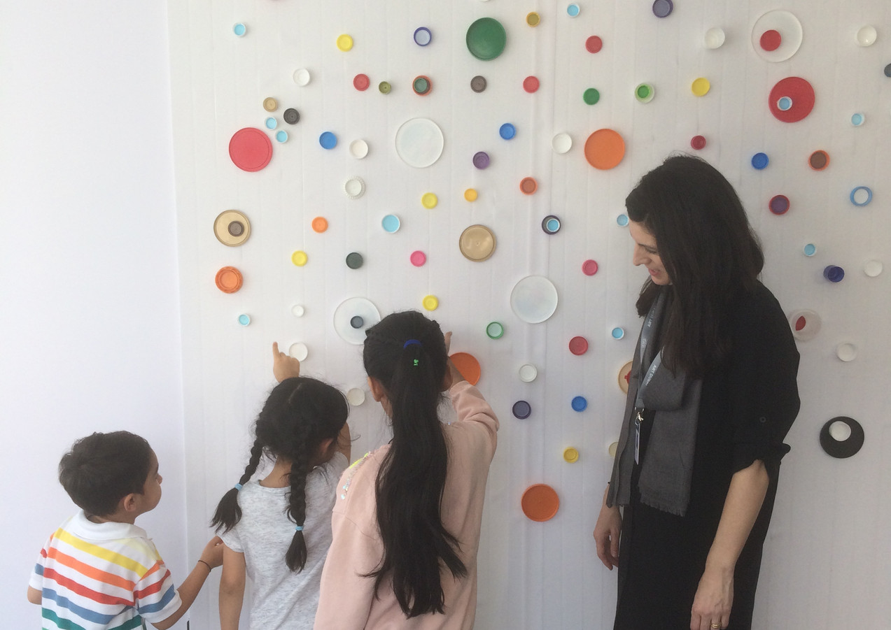 New Perspective Workshop at Art Dubai as part of the Sheikha Manal Little Artists Program