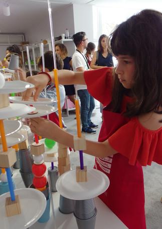 Futuristic City Workshop at Art Dubai as part of the Sheikha Manal Little Artists Program