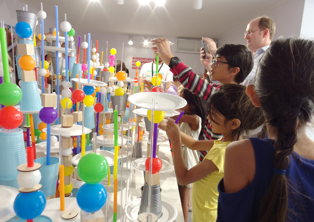 Futuristic City Workshop at Art Dubai as part of the Sheikha Manal Little Artists Program