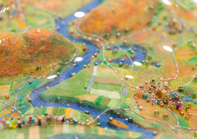 Sally Curcio, Happy Valley Fall (Detail), Smith College Museum of Art