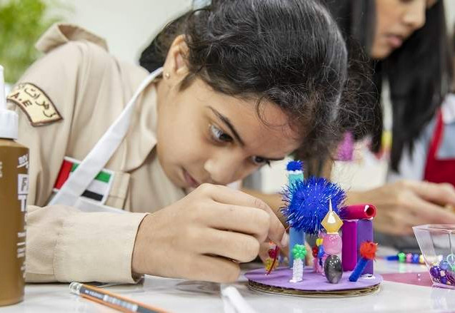 Miniature Worlds Workshop in Dubai Schools as part of the Sheikha Manal Little Artists Program
