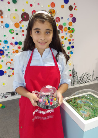 Miniature Worlds Workshop at Art Dubai as part of the Sheikha Manal Little Artists Program