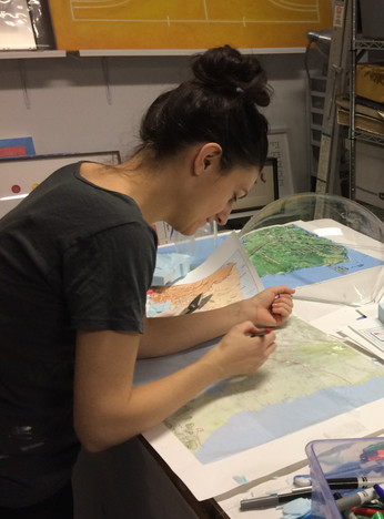 Sally Curcio, Nicaragua (Motherland) in process, commissioned by Marta Martinez