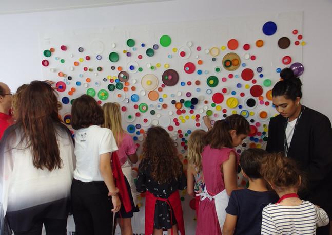 New Perspective Workshop at Art Dubai as part of the Sheikha Manal Little Artists Program