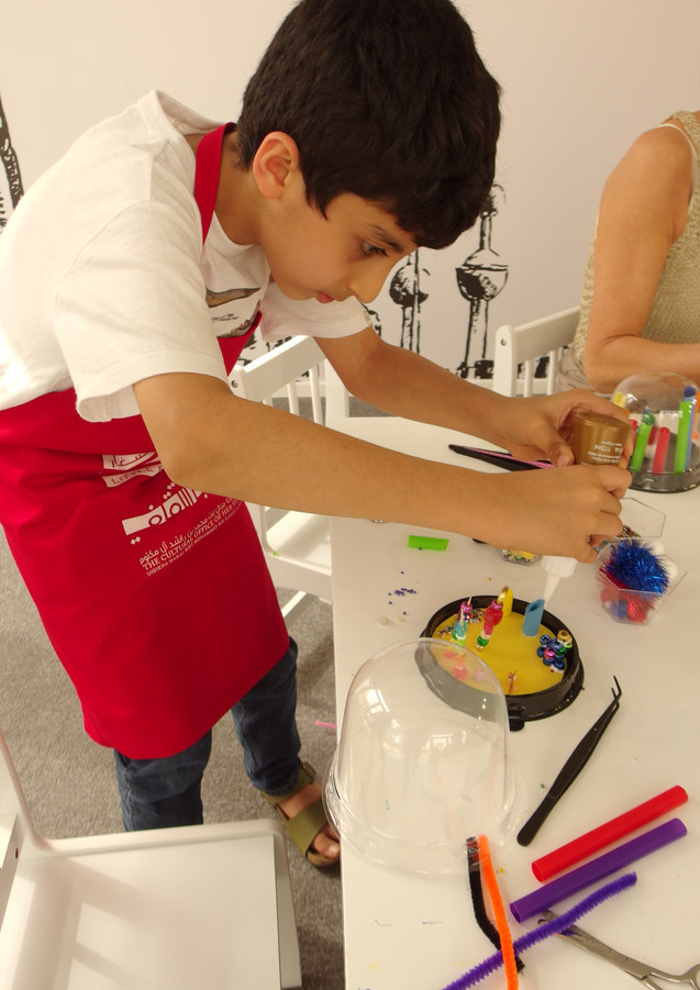 Miniature Worlds Workshop at Art Dubai as part of the Sheikha Manal Little Artists Program
