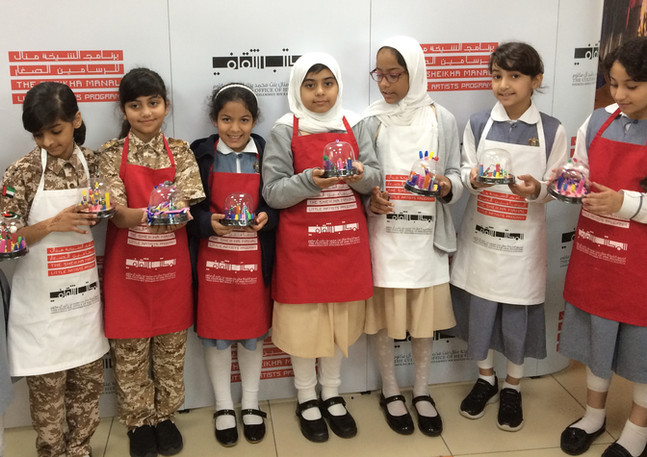Miniature Worlds Workshop in Dubai Schools as part of the Sheikha Manal Little Artists Program