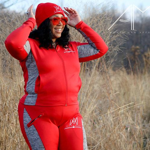 Red Yoga Set
