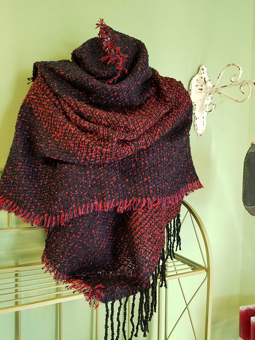 """Warm, Cute and Cozy"", Red and Black"