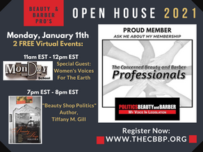 Beauty and Barber OPEN HOUSE, January 11, 2021