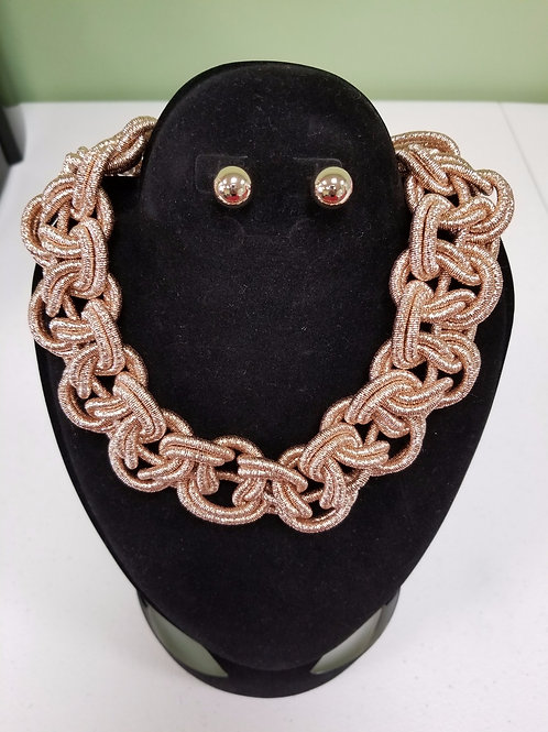"""""""Braided Luxury"""" Necklace and Earrings"""