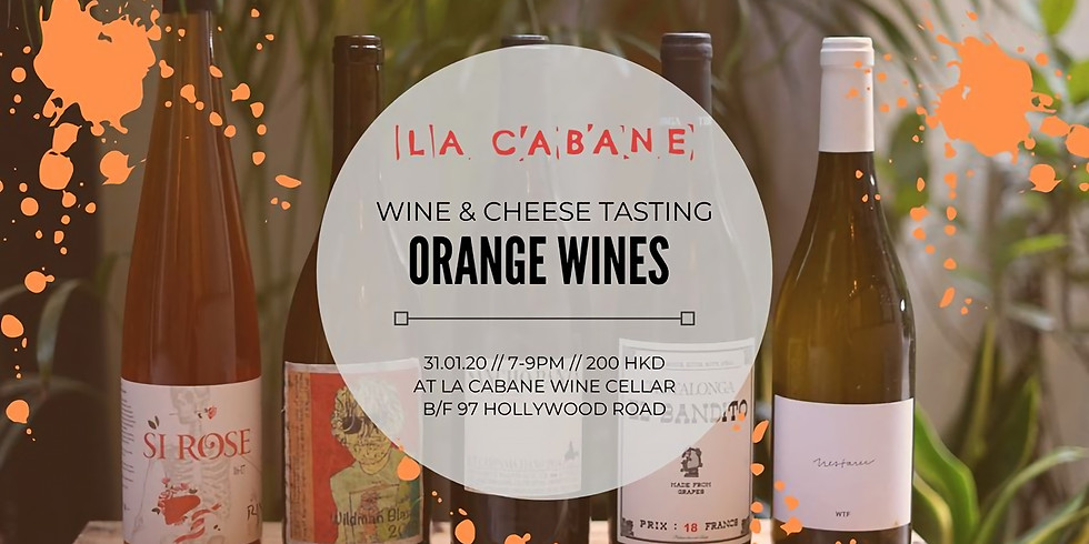 Splashin' Orange [wine & cheese tasting]