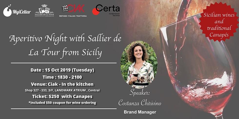 Aperitivo Night with Sallier de La Tour from Sicily