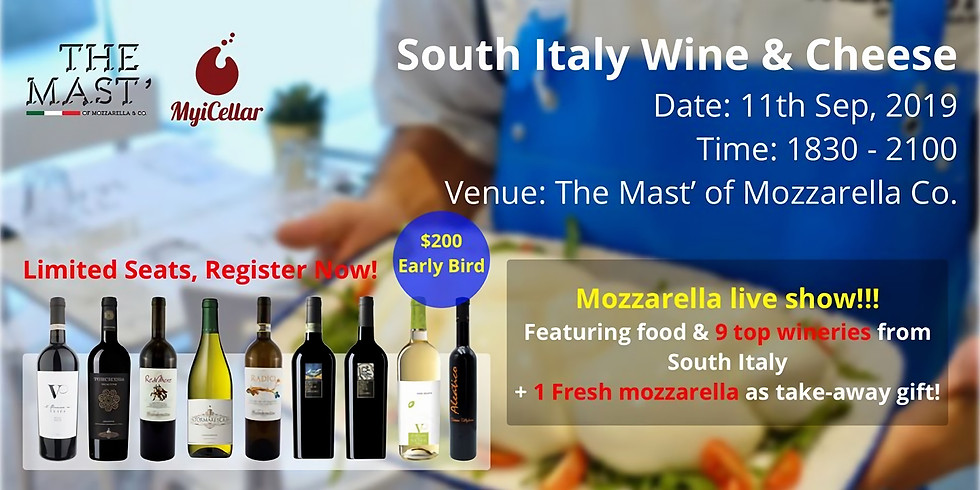 South Italy Wine & Cheese Tasting!