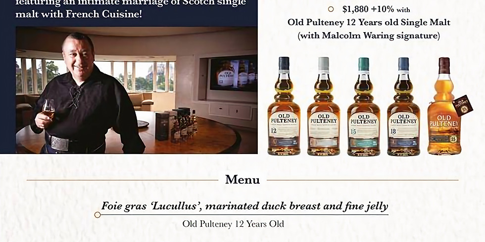 Discover the brand-new Old Puleney: Whisky Pairing Dinner